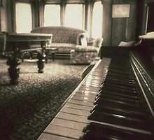 The Professor's Piano - Sepia by Phil Stuebe