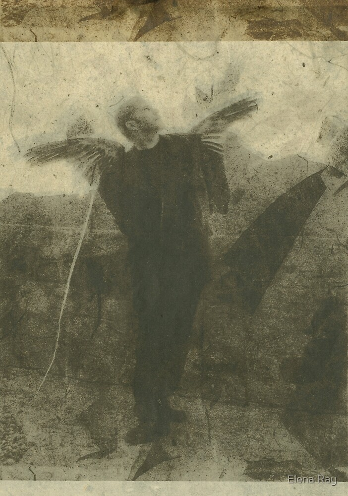 Upward Looking Fallen Angel by Elena Ray