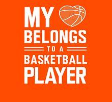 My heart belongs to a basketball player t-shirt Womens Fitted T-Shirt
