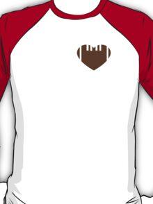 My heart belongs to a football player T-Shirt