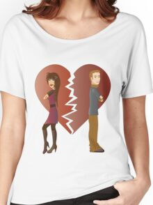 Couple with broken heart  Women's Relaxed Fit T-Shirt