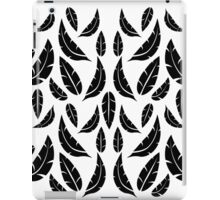 Black on White Modern Masculine Graphic Feather Pattern iPad Case/Skin