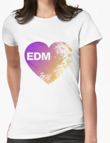EDM Love Womens Fitted T-Shirt