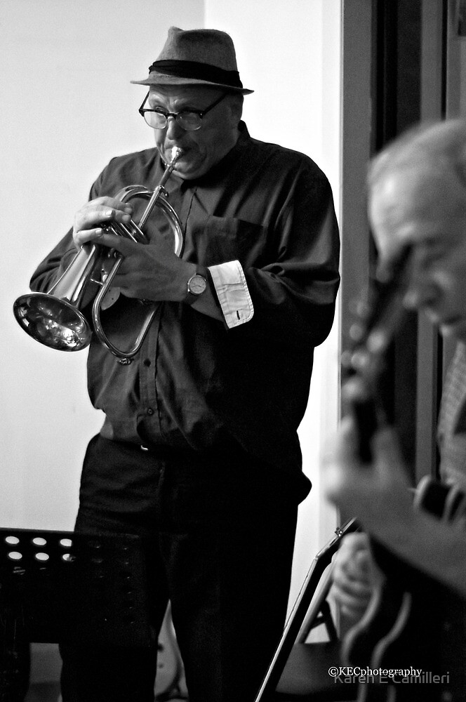 Blowin' his Horn by Karen E Camilleri