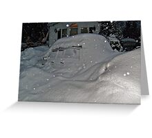 I Believe There Is A Vehicle Under That Snow Drift Greeting Card