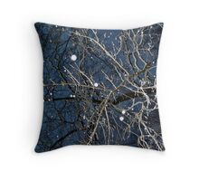 Looking Up In The Snow Into The Branches Throw Pillow