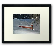 Snow All the Way To The Top Of the Fence Framed Print