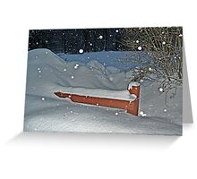 Snow All the Way To The Top Of the Fence Greeting Card