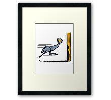 Funny, EMU ostrich race funny cartoon cool Framed Print