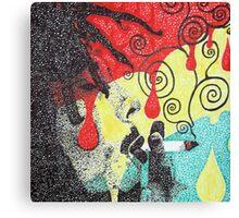 Dripping Bob Marley Canvas Print