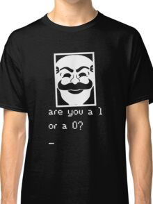 Are you a 1 or a 0? Mr. Robot - Fsociety (white) Classic T-Shirt