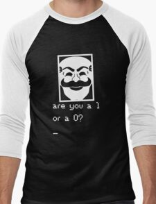 Are you a 1 or a 0? Mr. Robot - Fsociety (white) Men's Baseball ¾ T-Shirt