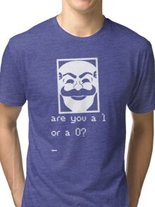 Are you a 1 or a 0? Mr. Robot - Fsociety (white) Tri-blend T-Shirt