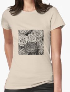 Shaded roses  Womens Fitted T-Shirt