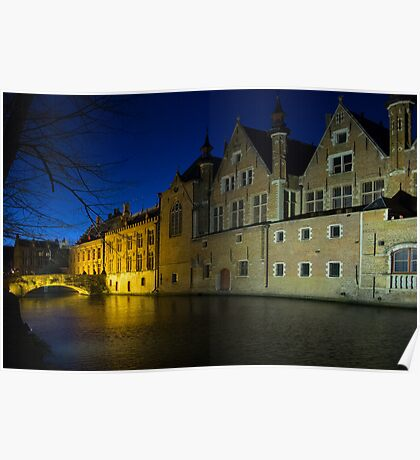 Bruge at Night Poster