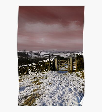 Views To Pendle Hill Poster