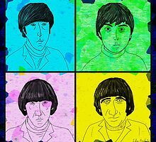 The Beatles Pop Art Line Figures  by ibadishi