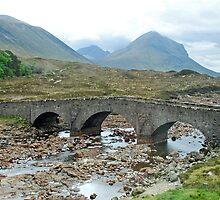 Stone bridge at Sligachan - Isle of Skye - Scotland. by Arie Koene
