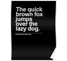 Quick Brown Fox Poster