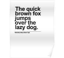 Brown Fox Poster