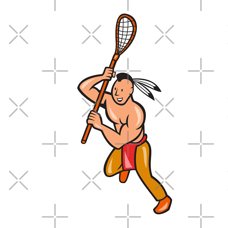 Quot Native American Lacrosse Player Crosse Stick Quot By