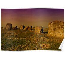 Long Meg Stone Circle Poster