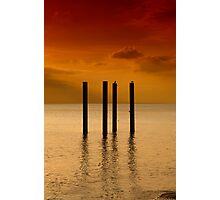 Pier Remnants Photographic Print