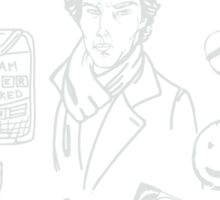 Sherlock: The Game Is On (White) Sticker