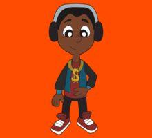 Hip hop boy cartoon Kids Tee