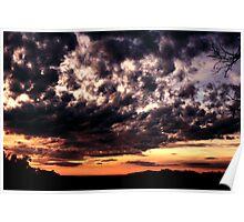 Smokey Sunset No.2 - Halls Gap ... Poster