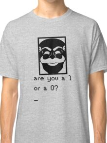Are you a 1 or a 0? Mr. Robot - Fsociety (black) Classic T-Shirt