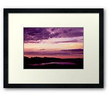 Dusk Over Wartook Reservoir - Halls Gap Framed Print