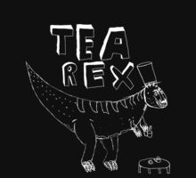 Tea Rex (white) by MichaelAshMash