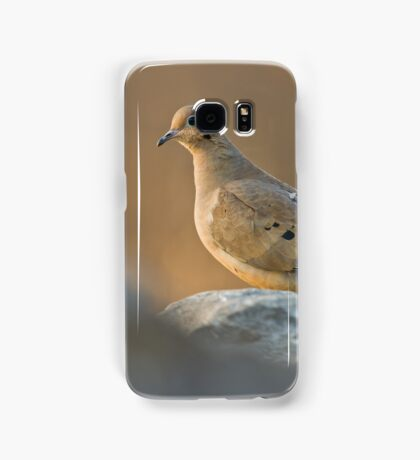 Mourning Dove On Rock Samsung Galaxy Case/Skin