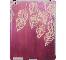Magenta Garden - watercolor & ink leaves iPad Case/Skin