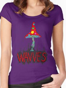MushrOom Wavves Women's Fitted Scoop T-Shirt