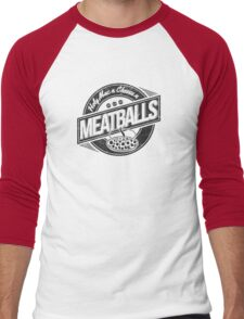 Holy Mac n Cheese n Meatballs (Black) Men's Baseball ¾ T-Shirt