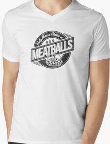 Holy Mac n Cheese n Meatballs (Black) Mens V-Neck T-Shirt