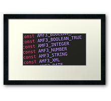 Monokai Constants Framed Print