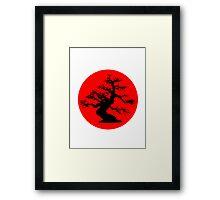 bonsai red sun  Framed Print