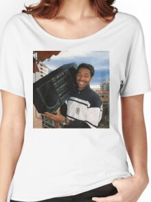 Thierry Henry With A Ghetto Blaster Women's Relaxed Fit T-Shirt