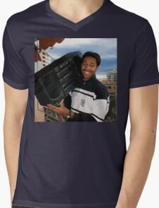 Thierry Henry With A Ghetto Blaster Mens V-Neck T-Shirt