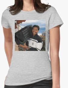 Thierry Henry With A Ghetto Blaster Womens Fitted T-Shirt