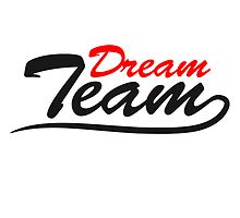 Text logo lettering couple dream team by Style-O-Mat