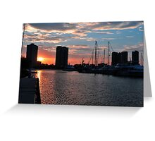 Southport Sunset. Gold Coast, Queensland, Australia. Greeting Card