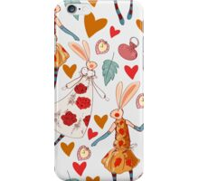 Seamless pattern with retro art deco lemurs on the party iPhone Case/Skin