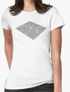 maze - labyrinth Womens Fitted T-Shirt
