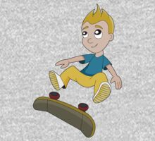 Skateboarder boy cartoon Baby Tee