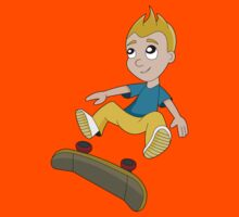 Skateboarder boy cartoon Kids Clothes