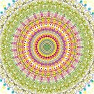 Bright Blessings Mandala  by Vicki Field